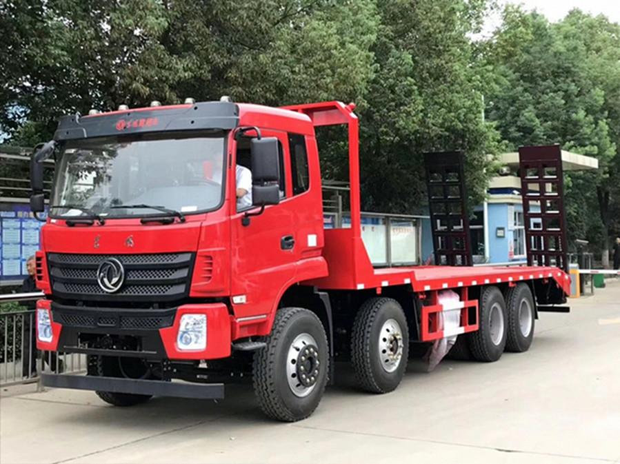 【38吨】东风商用前四后八平板运输车
