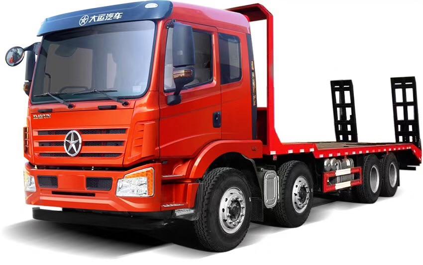 【33吨】大运前四后八平板运输车