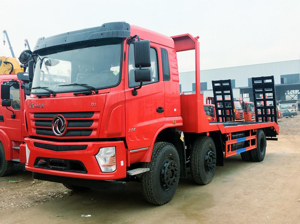 【25吨】东风D3S小三轴平板运输车