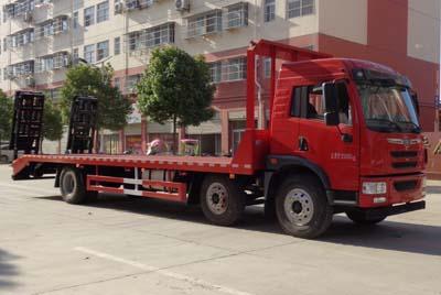 【25吨】解放悍V小三轴平板运输车